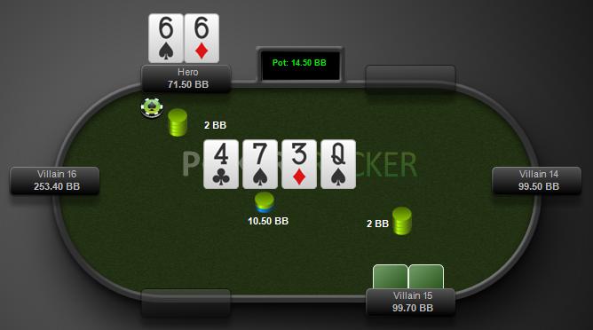 facing double-barrel donk bet