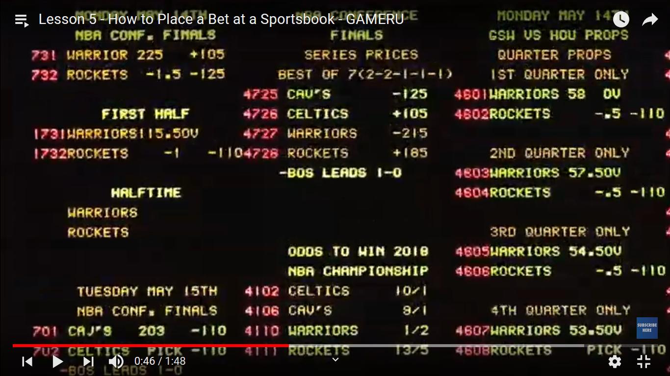 sportsbook betting wall