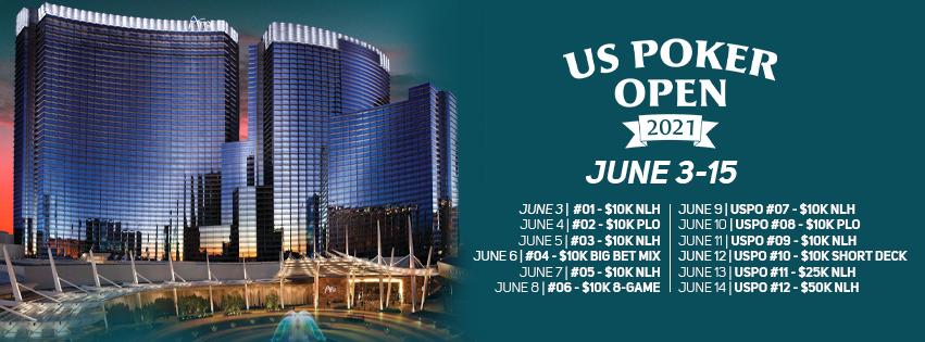 2021 U.S. Poker Open schedule