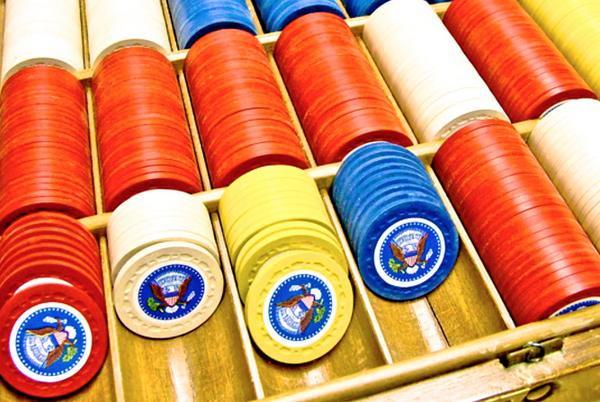 President Truman poker chips